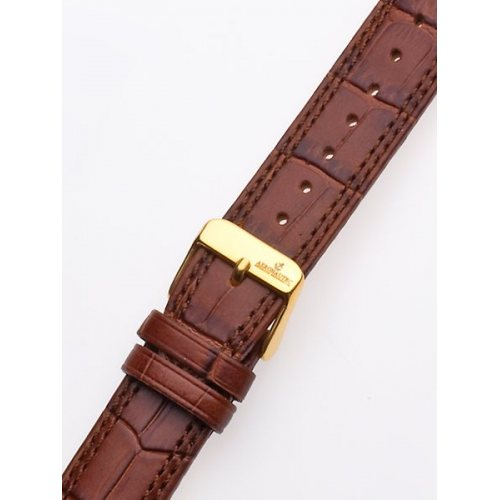 Watch-strap 20 x 185 mm Brown Gold Clasp
