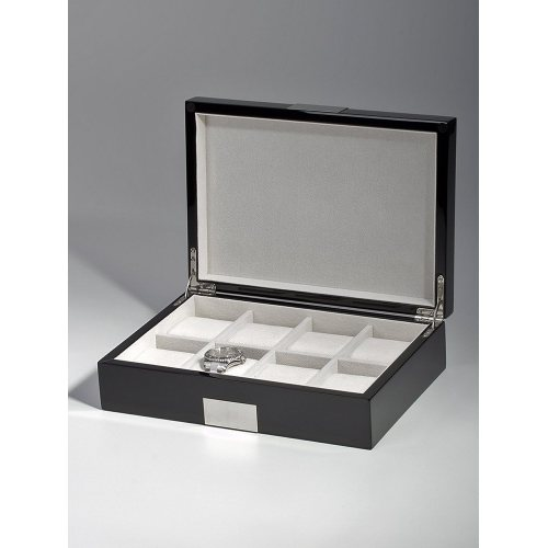 Rothenschild Watch Box RS-2022-8BL for 8 Watches Black