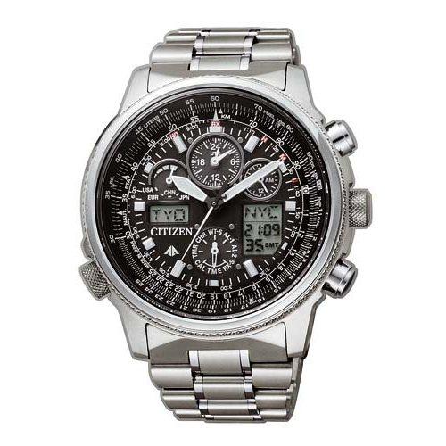 Citizen JY8020-52E Eco-Drive Promaster Sky Skyhawk Radio Controlled Watch Titanium 45mm 20 ATM