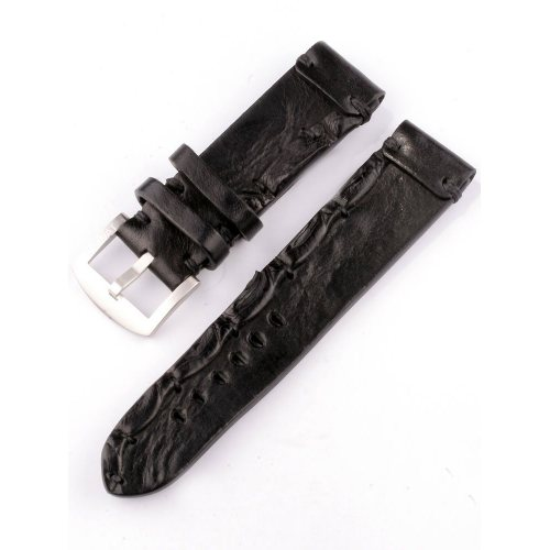 U-Boat Replacement Strap Vintage Collection 7281 Black 23/22 SS calfskin leather
