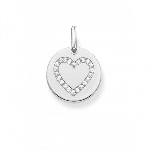 Thomas Sabo LBPE0005-051-14 Love Bridge pendant heart coin