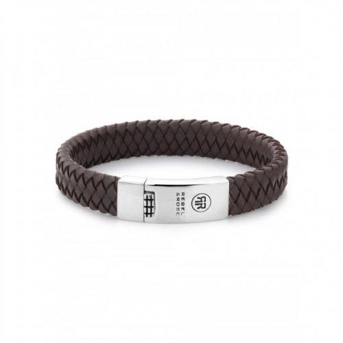 Rebel & Rose bracelet Braided Flat RR-L0013-N-M men`s