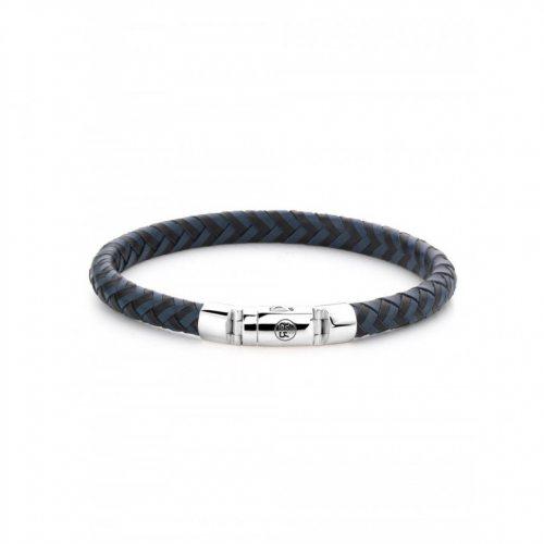 Rebel & Rose bracelet Half Round Braided RR-L0063-S-L men`s