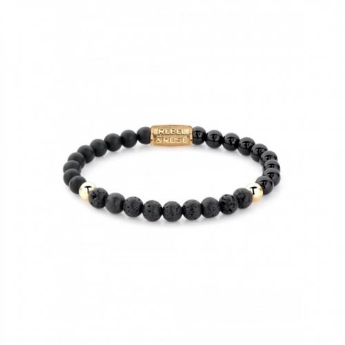 Rebel & Rose bracelet Black Beauty RR-60045-G-S ladies