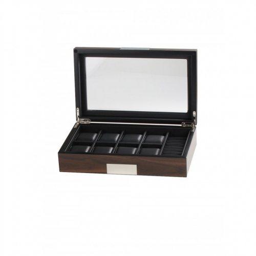 Rothenschild watch box RS-2381-10W for 8 watches + cufflinks