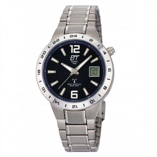 ETT EGT-11411-41M men`s solar titanium radio controlled watch 40mm 5ATM