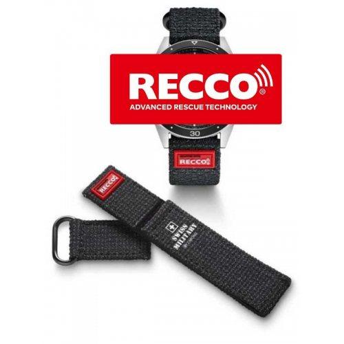 Swiss Military RECCO B.A14080.04 rescue-reflector kevlar strap 20 mm lug width